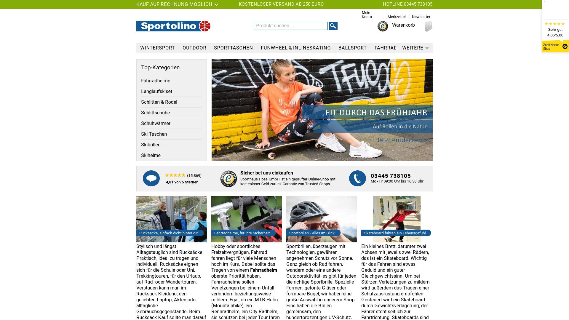 Gutschein für Sportolino: Rabatte für  Sportolino sichern