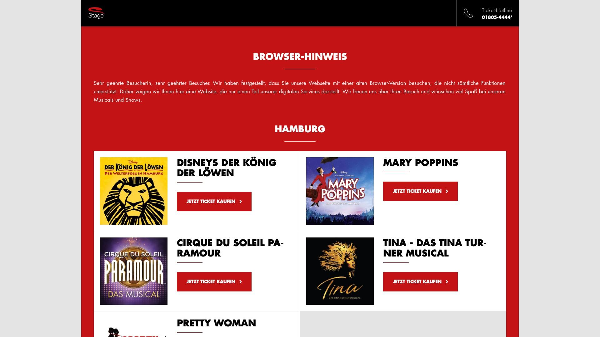Gutschein für Stage-entertainment: Rabatte für  Stage-entertainment sichern