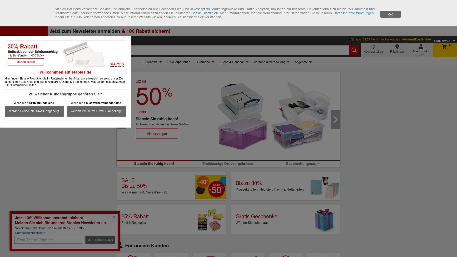 Gutschein für Staples: Rabatte für  Staples sichern