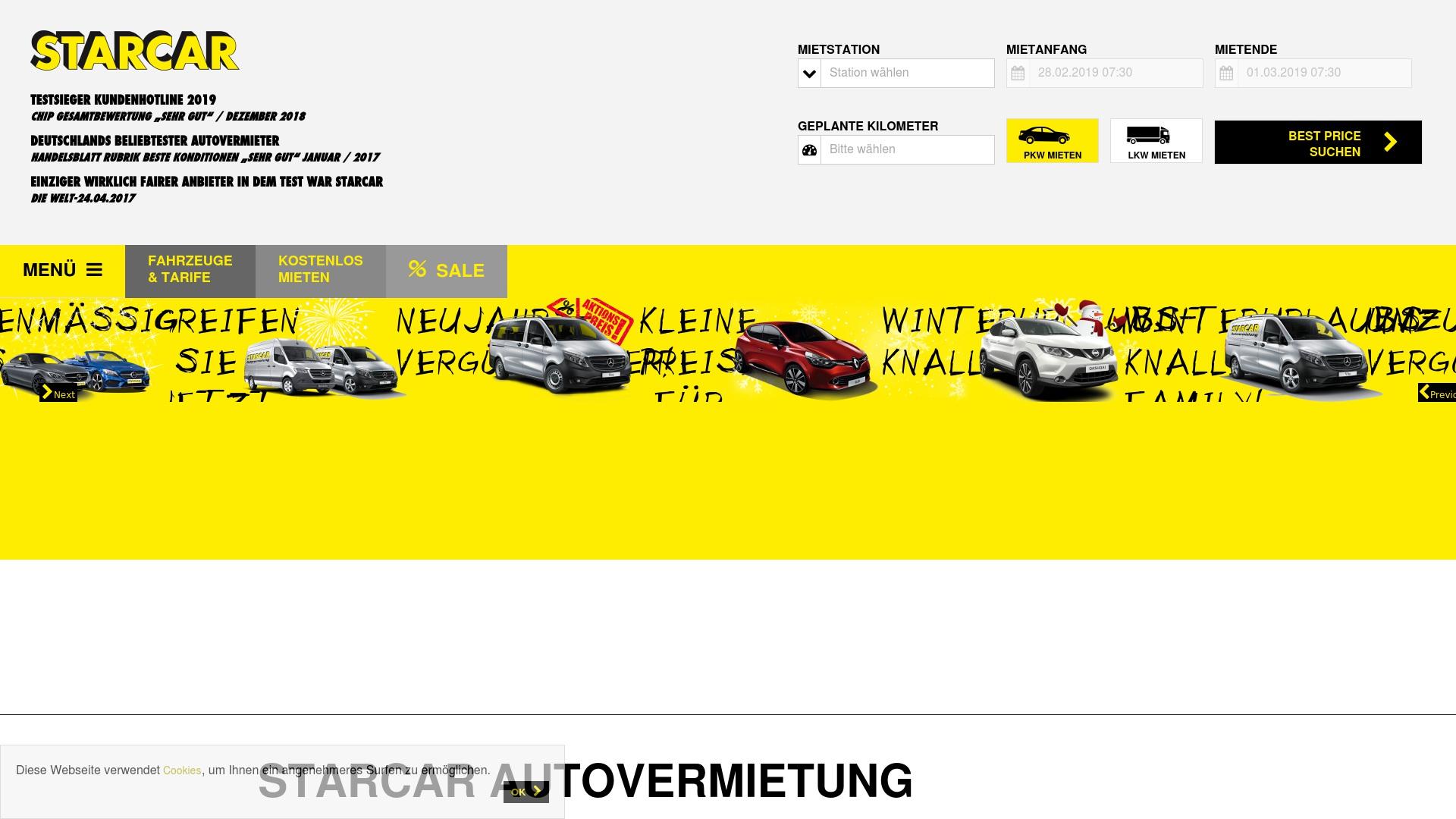 Gutschein für Starcar: Rabatte für  Starcar sichern