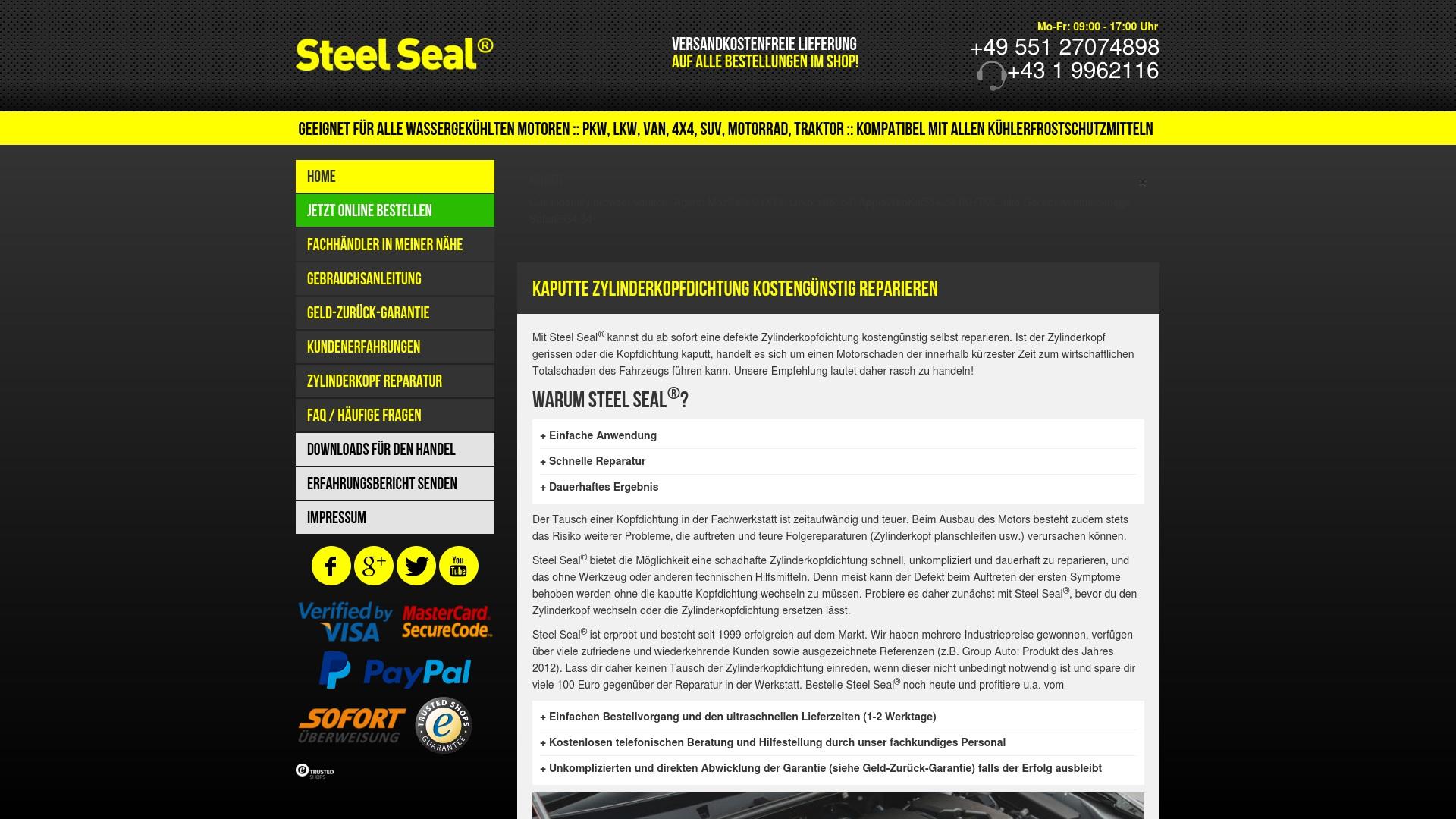 Gutschein für Steelseal: Rabatte für  Steelseal sichern