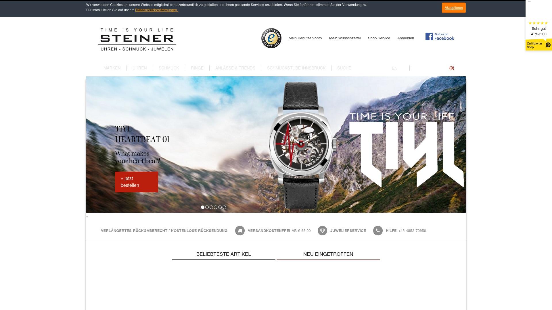 Gutschein für Steiner-juwelier: Rabatte für  Steiner-juwelier sichern