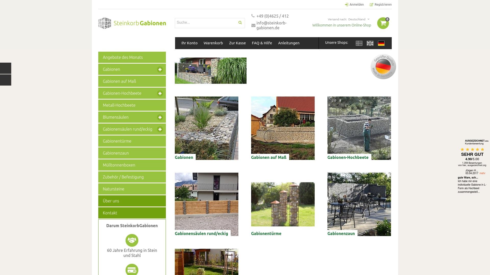Gutschein für Steinkorb-gabionen: Rabatte für  Steinkorb-gabionen sichern