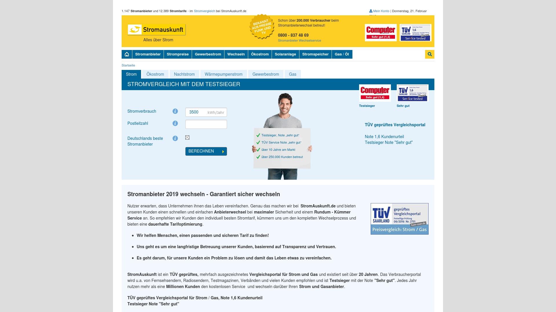 Gutschein für Stromauskunft: Rabatte für  Stromauskunft sichern