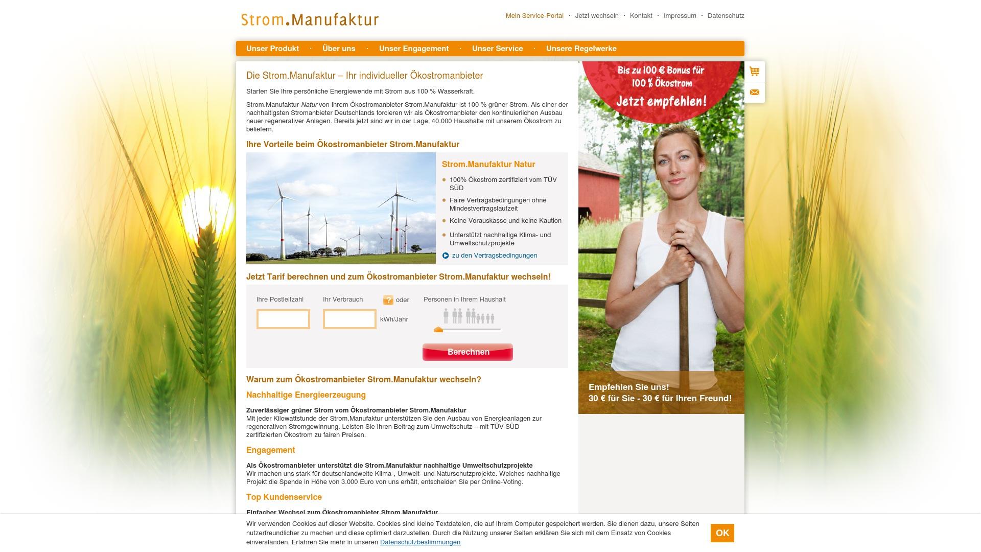 Gutschein für Strommanufaktur: Rabatte für  Strommanufaktur sichern