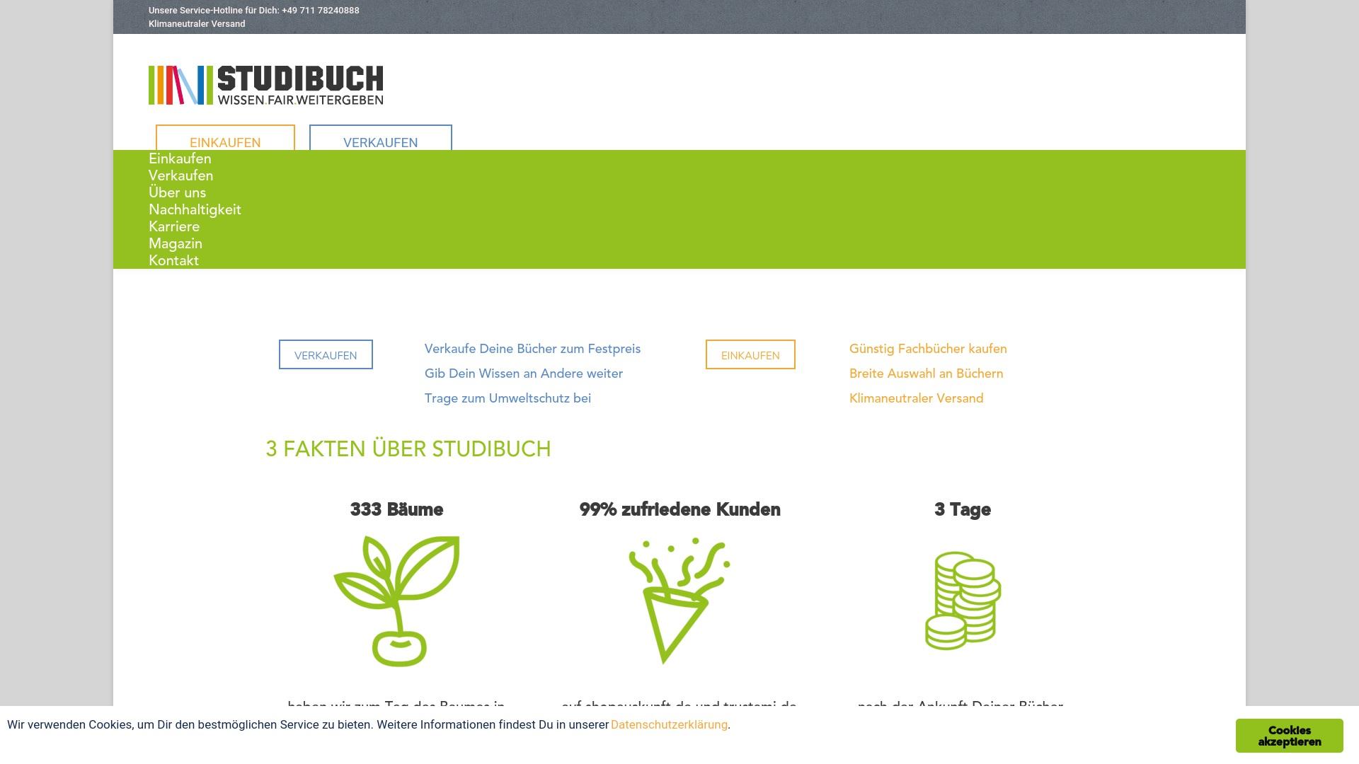 Gutschein für Studibuch: Rabatte für Studibuch sichern