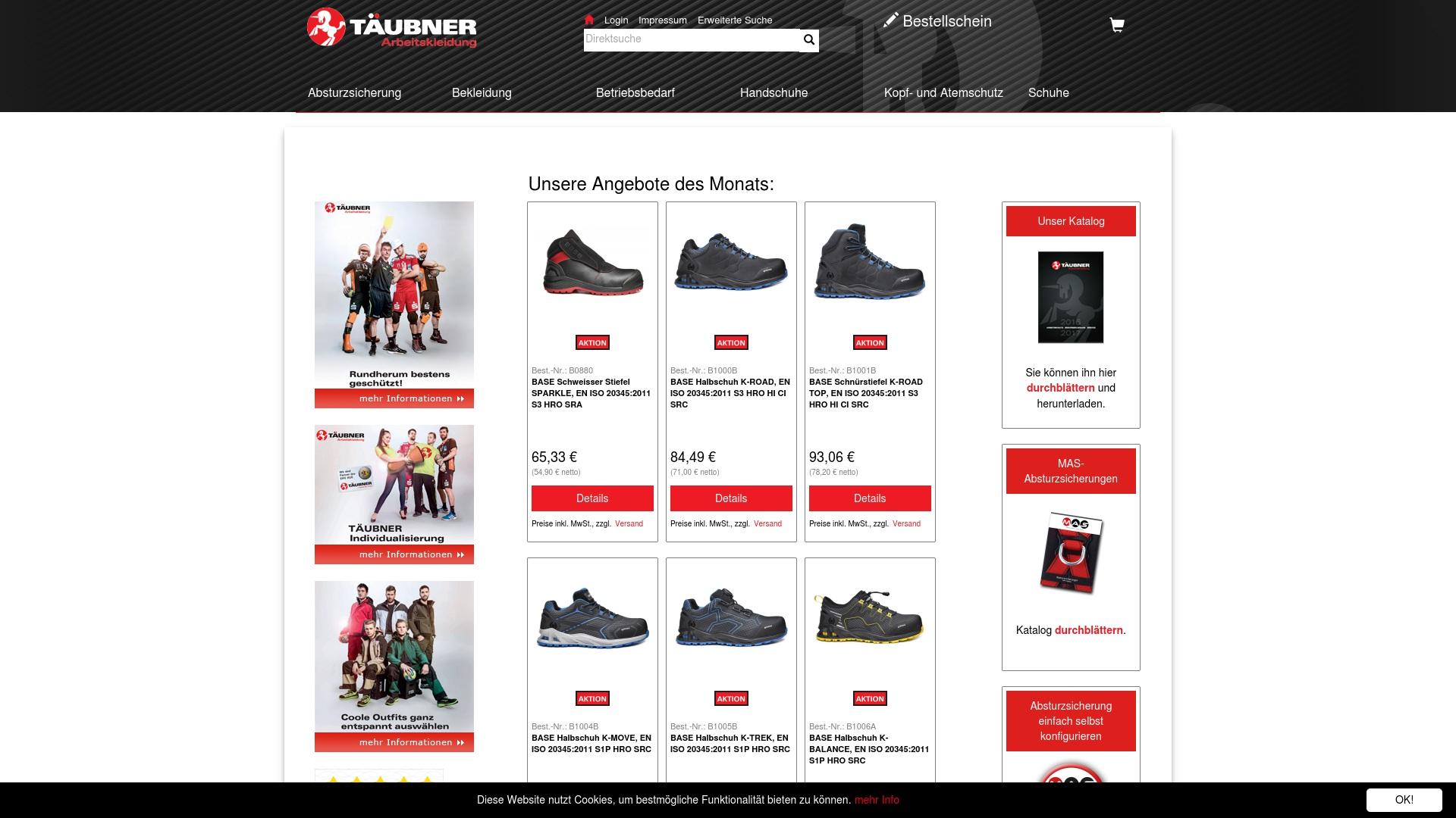 Gutschein für Taeubner-arbeitskleidung: Rabatte für  Taeubner-arbeitskleidung sichern