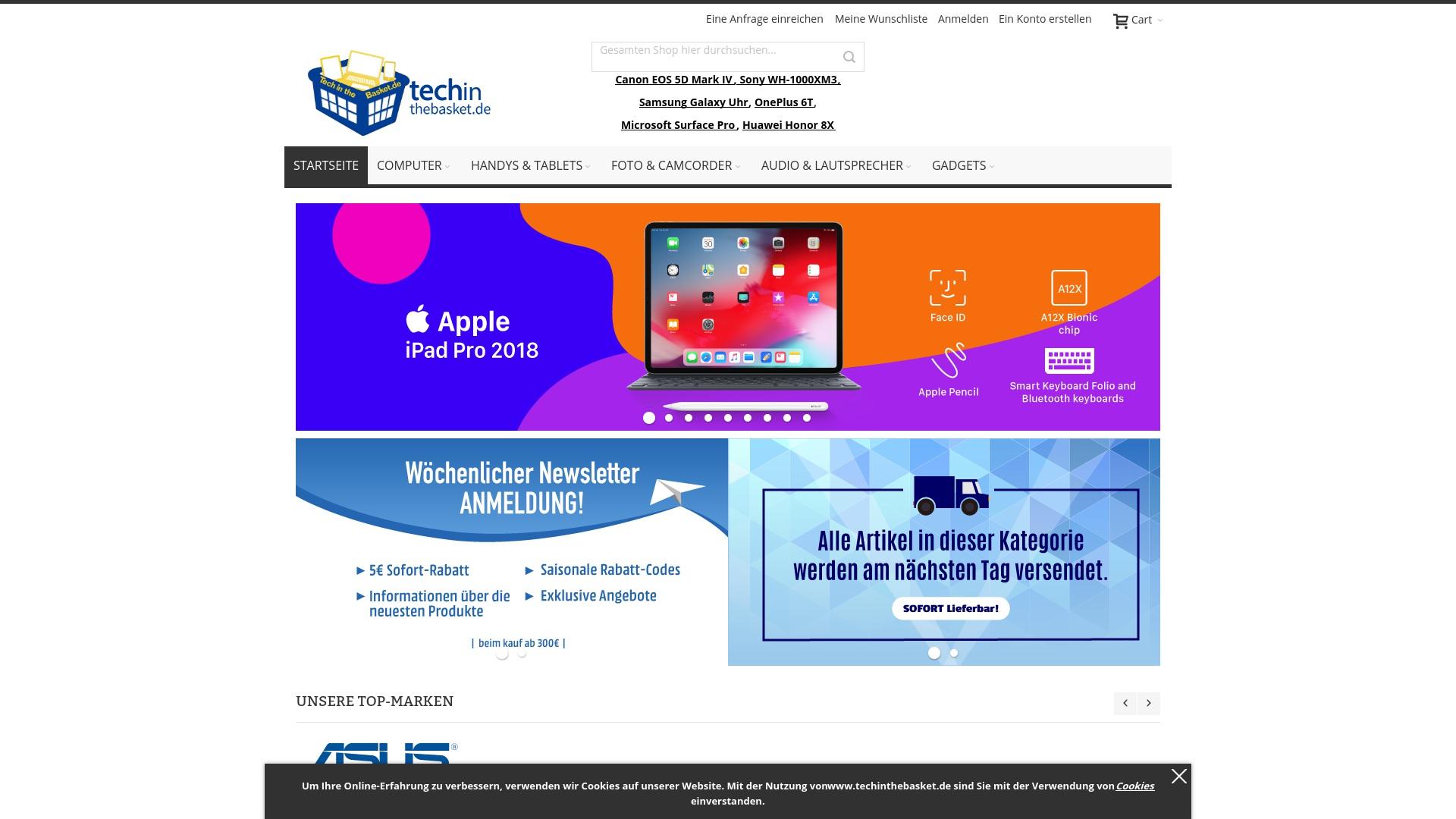 Gutschein für Techinthebasket: Rabatte für  Techinthebasket sichern