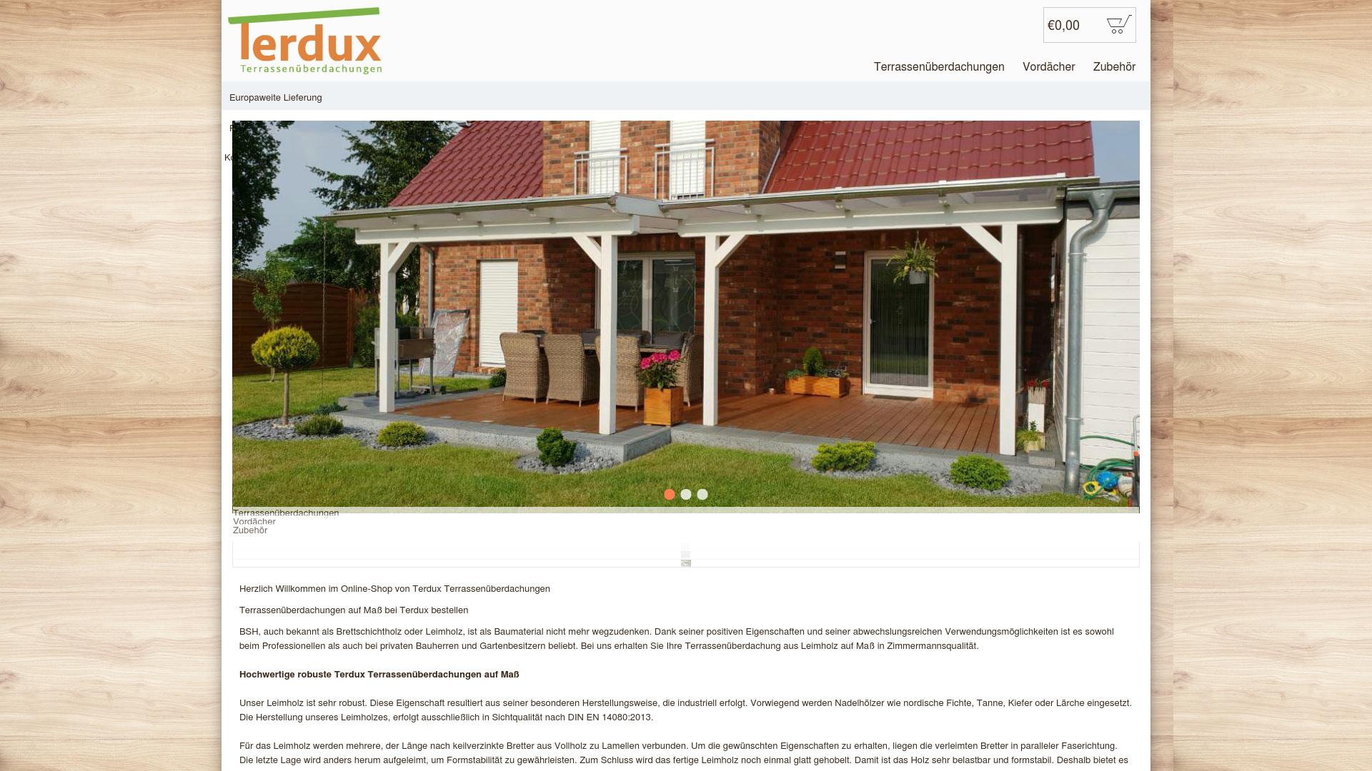 Gutschein für Terdux: Rabatte für  Terdux sichern