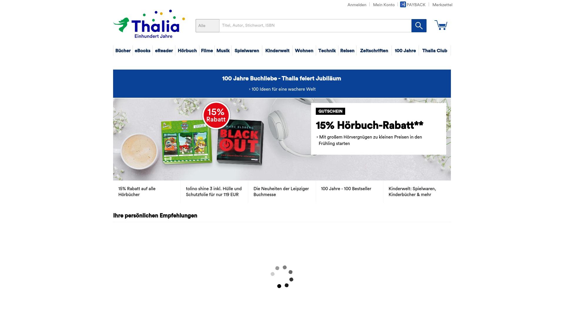 Gutschein für Thalia: Rabatte für  Thalia sichern