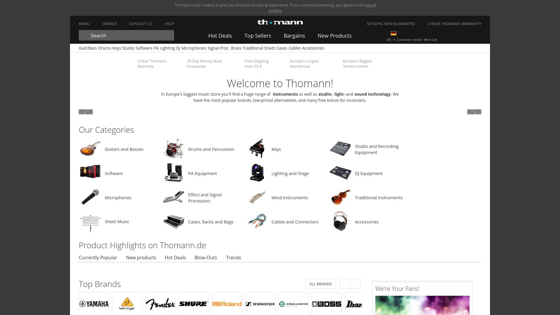 Gutschein für Thomann: Rabatte für  Thomann sichern