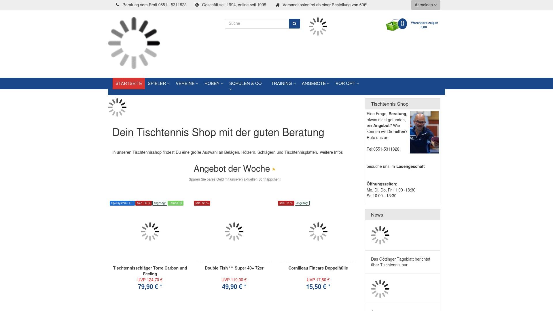 Gutschein für Tischtennis: Rabatte für  Tischtennis sichern