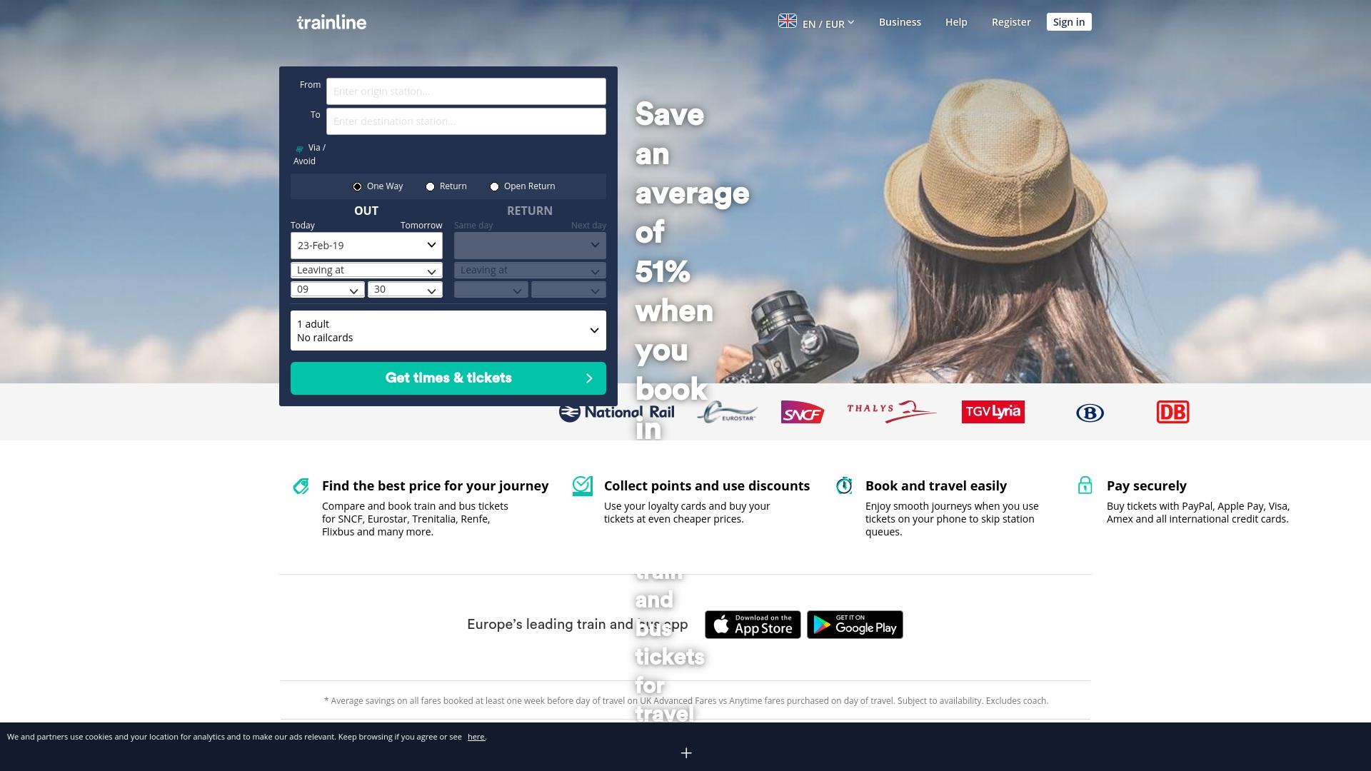 Gutschein für Trainline: Rabatte für  Trainline sichern