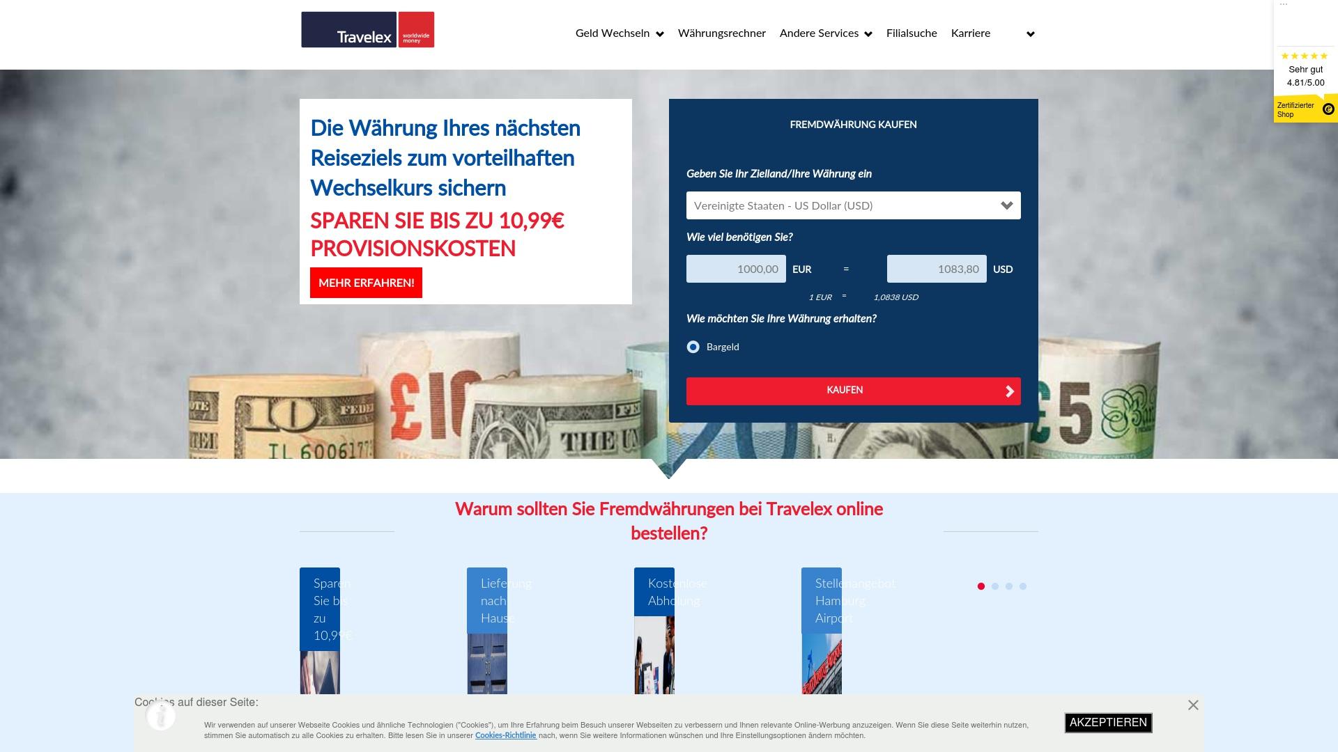 Gutschein für Travelex: Rabatte für  Travelex sichern