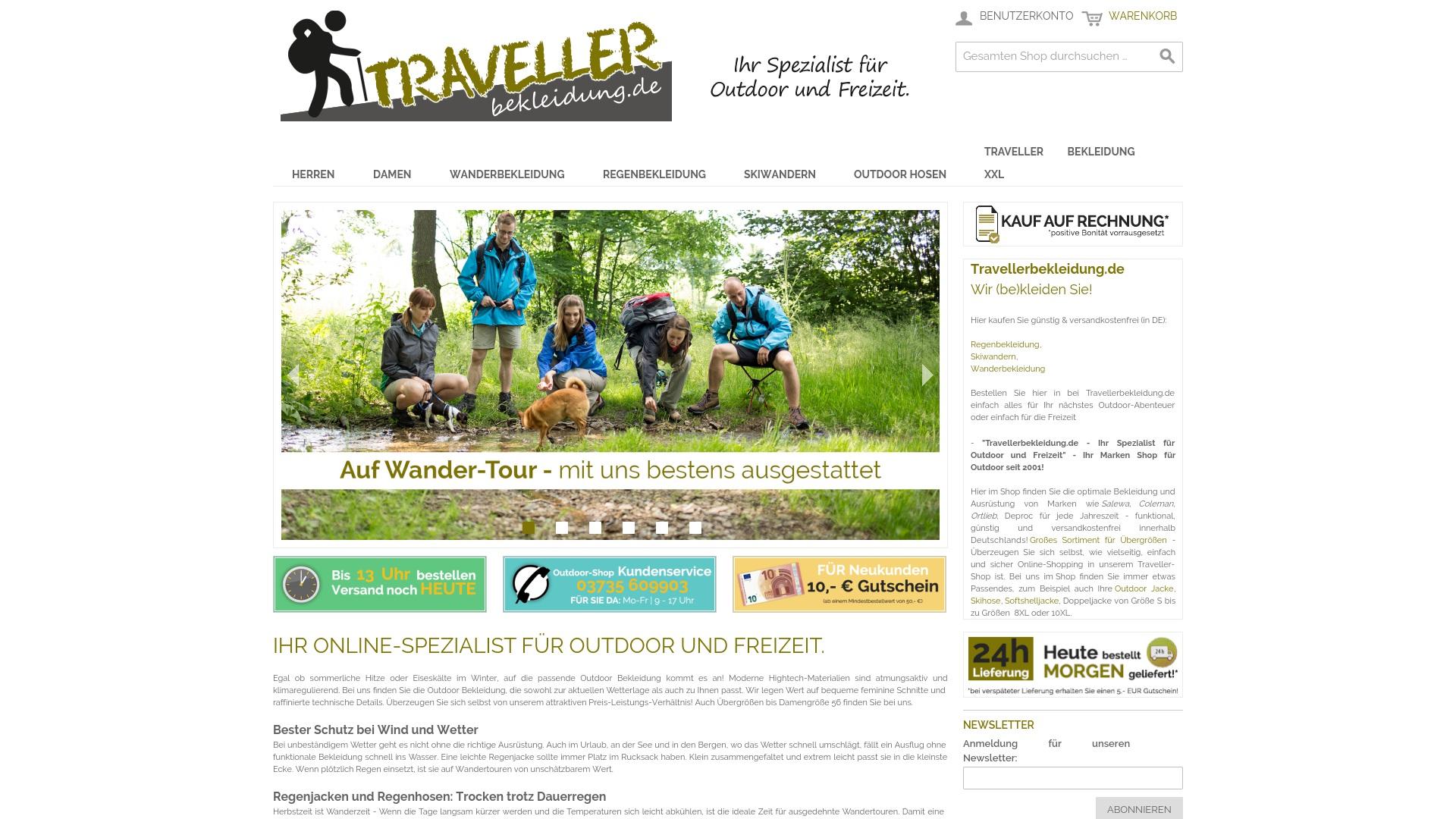 Gutschein für Travellerbekleidung: Rabatte für Travellerbekleidung sichern