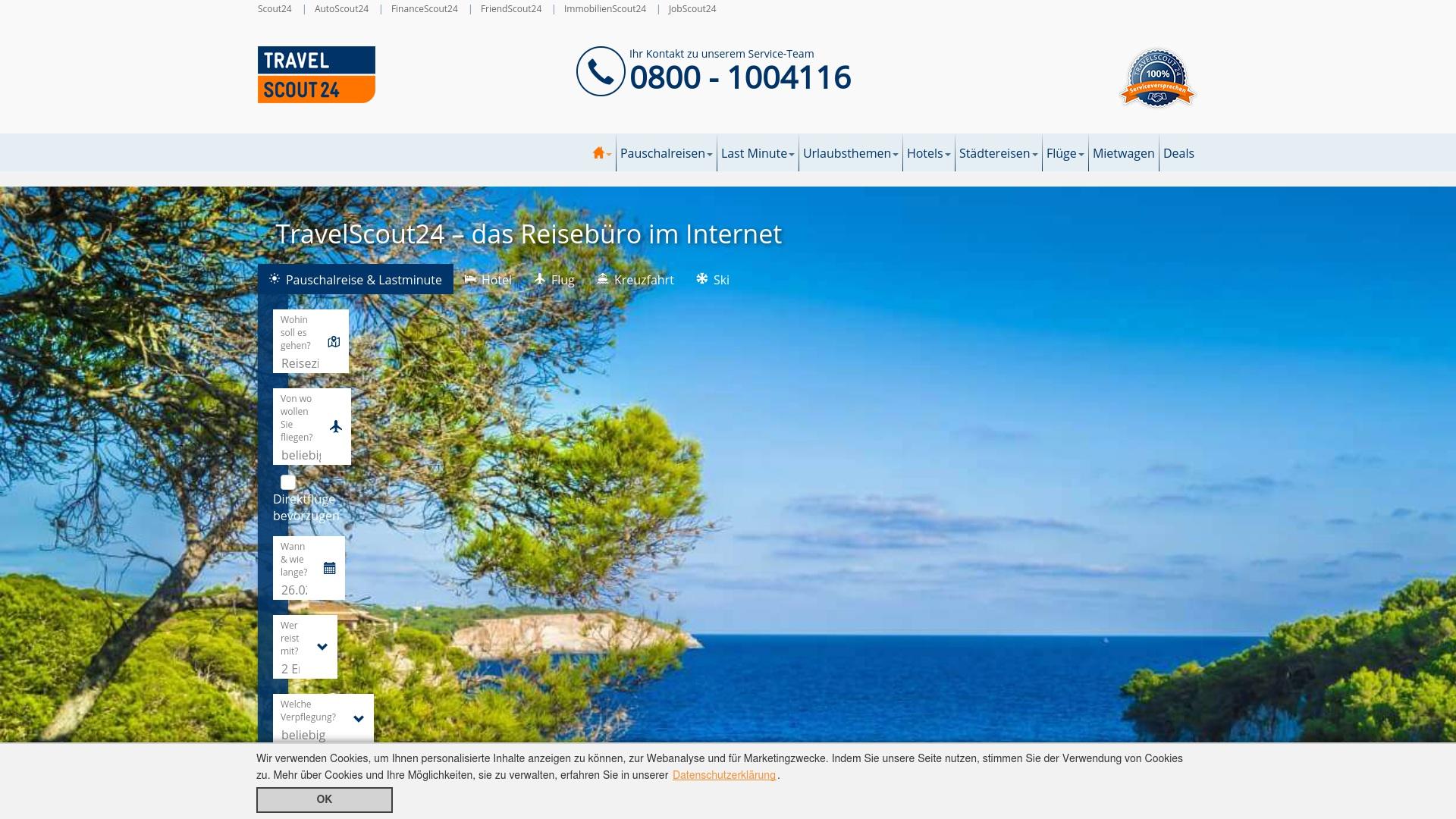 Gutschein für Travelscout24: Rabatte für  Travelscout24 sichern