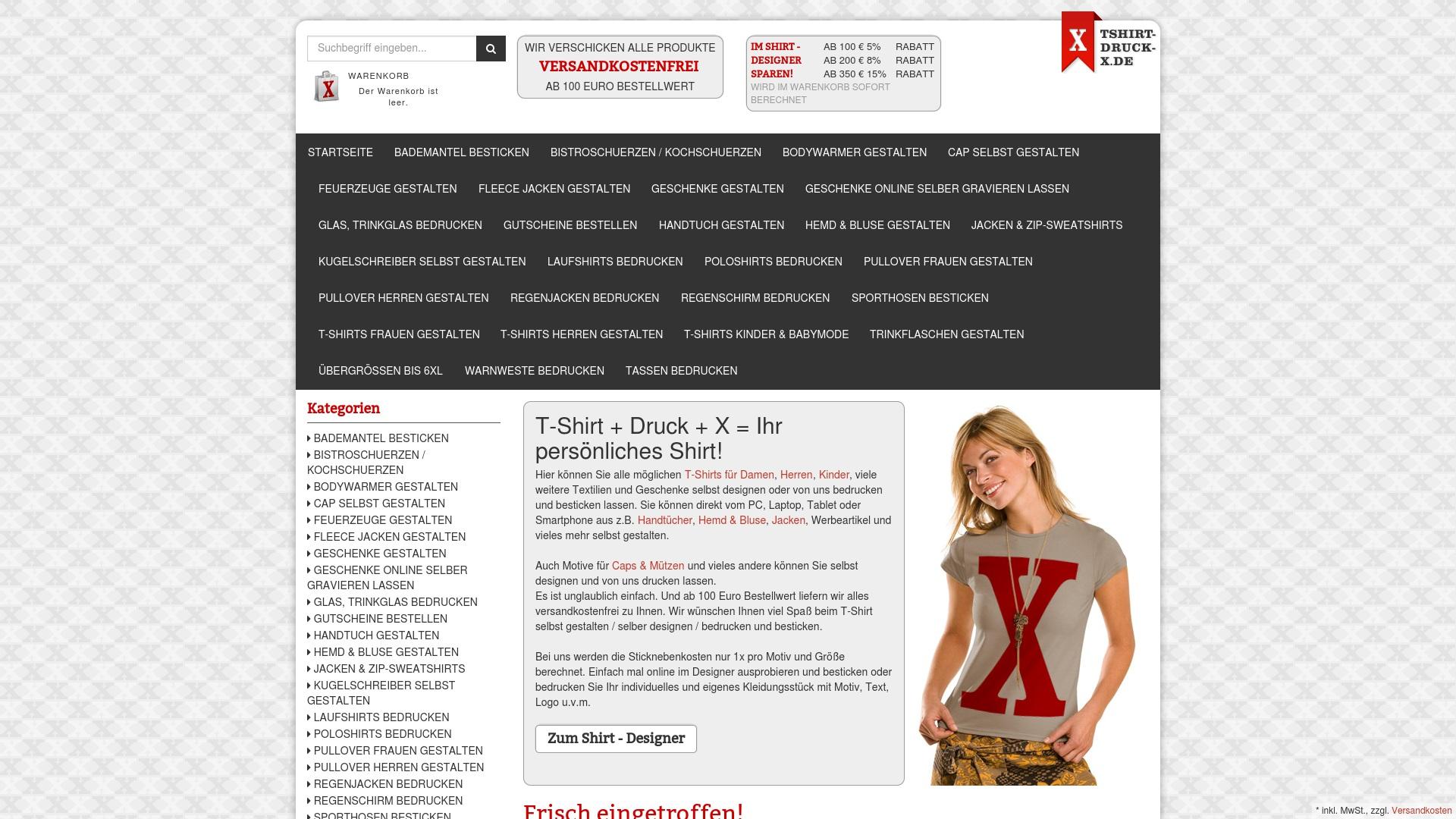 Gutschein für Tshirt-druck-x: Rabatte für  Tshirt-druck-x sichern