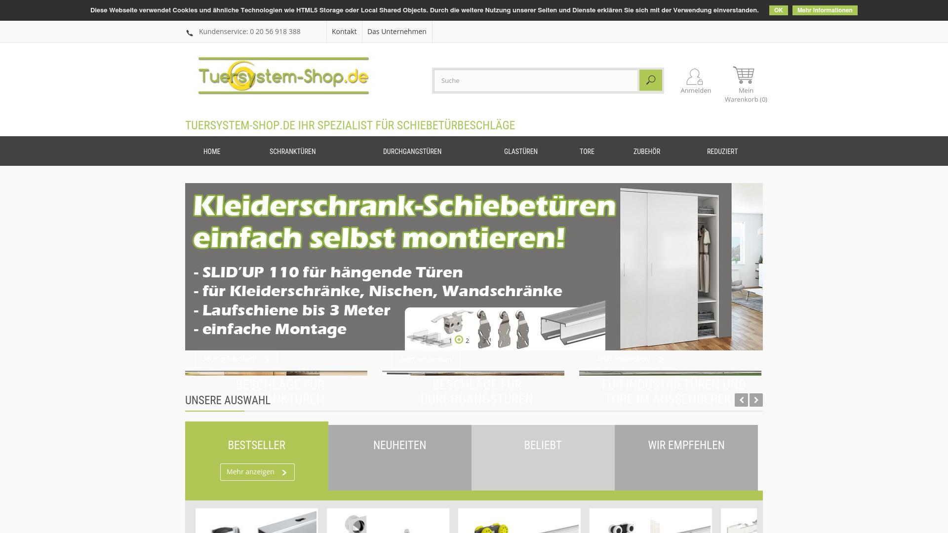 Gutschein für Tuersystem-shop: Rabatte für  Tuersystem-shop sichern