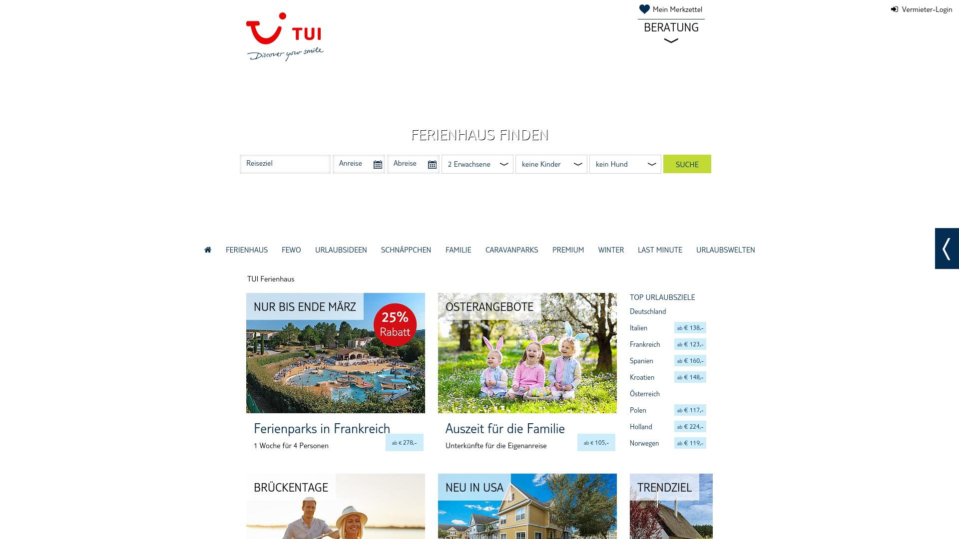 Gutschein für Tui-ferienhaus: Rabatte für  Tui-ferienhaus sichern