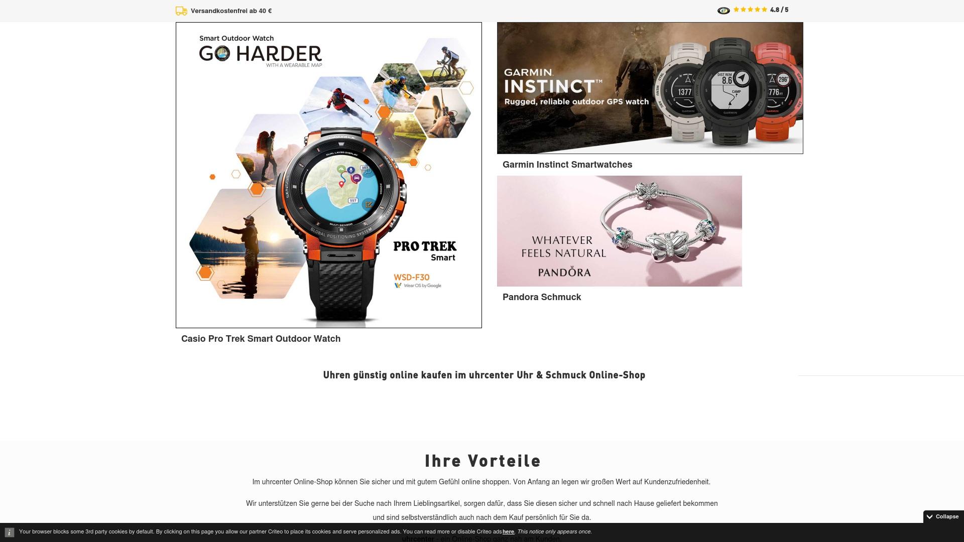 Gutschein für Uhrcenter: Rabatte für  Uhrcenter sichern