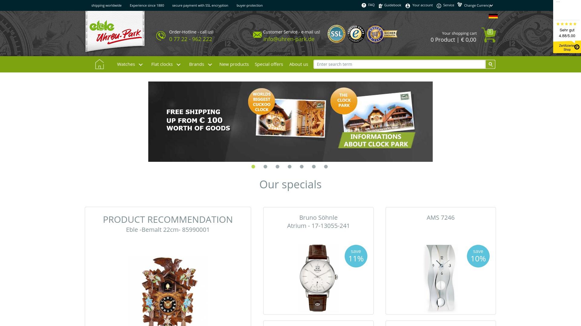 Gutschein für Uhren-park: Rabatte für  Uhren-park sichern