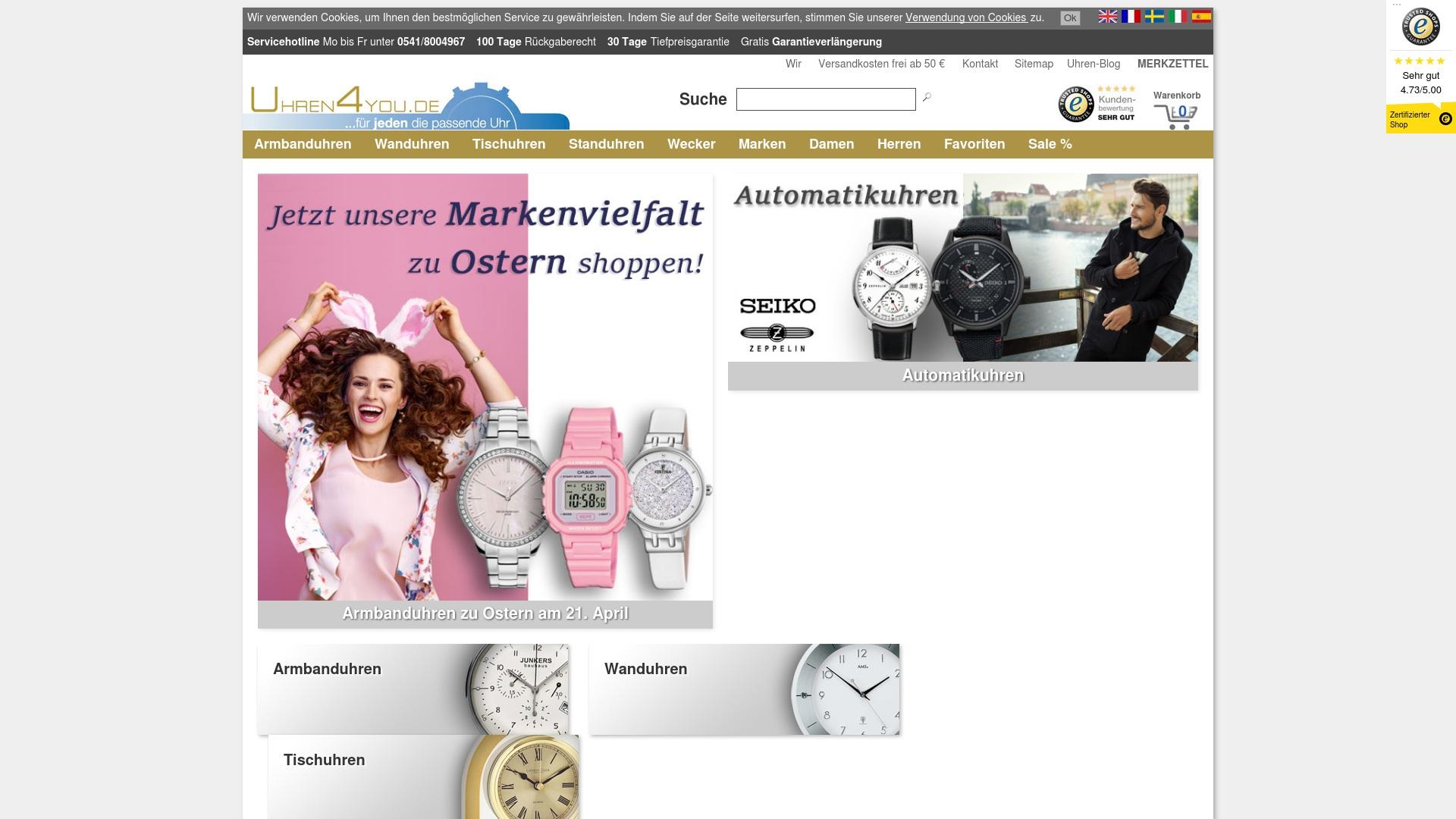 Gutschein für Uhren4you: Rabatte für  Uhren4you sichern
