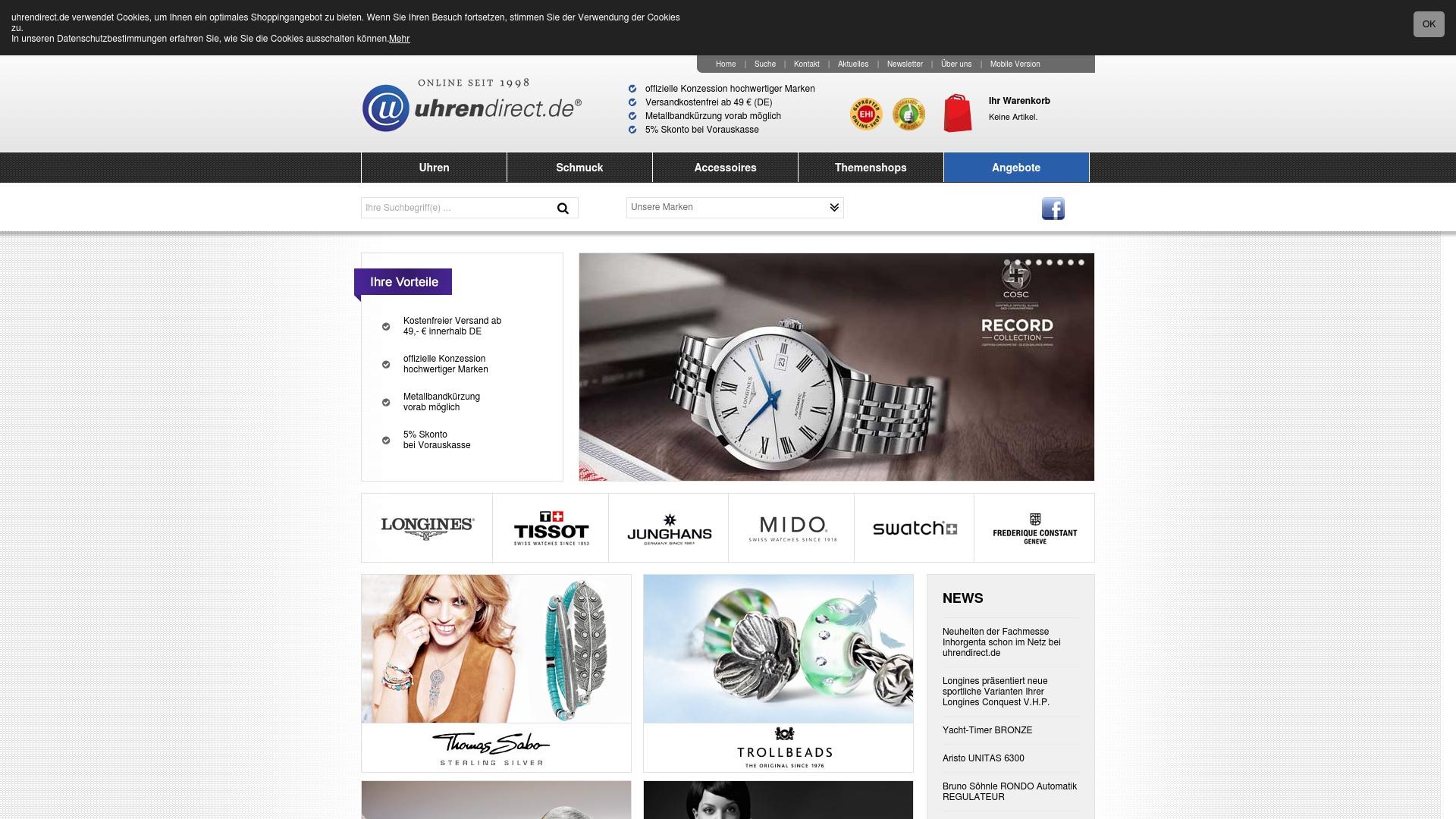 Gutschein für Uhrendirect: Rabatte für  Uhrendirect sichern