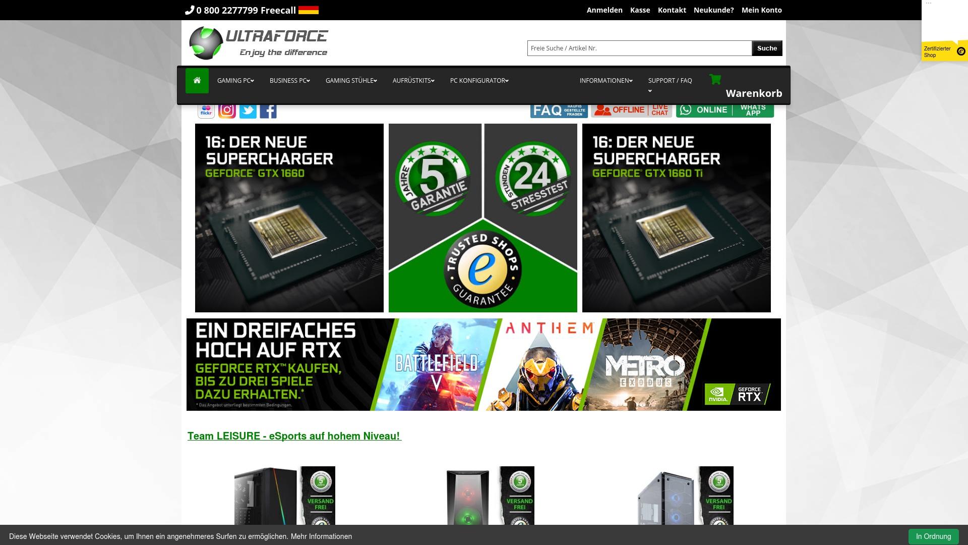 Gutschein für Ultraforce: Rabatte für  Ultraforce sichern
