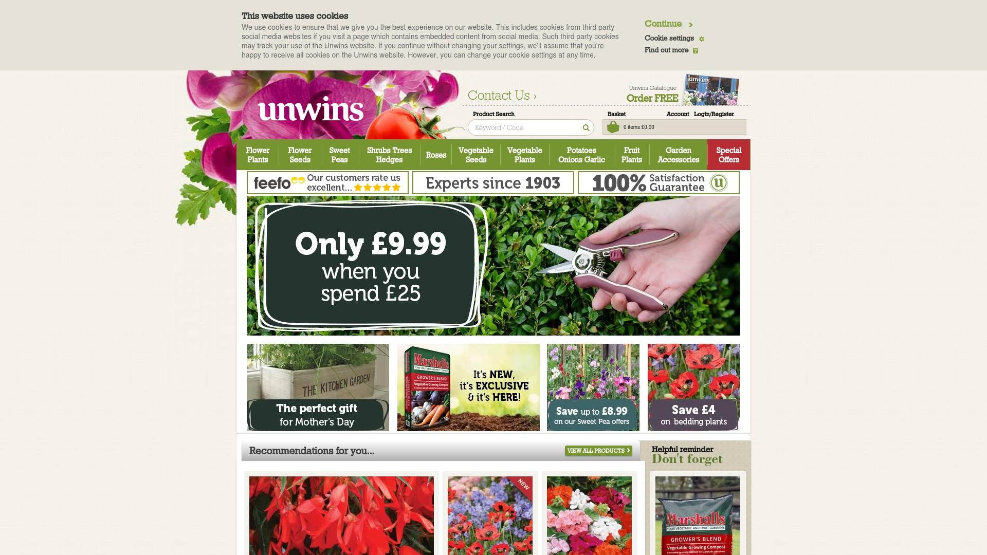 Gutschein für Unwins: Rabatte für  Unwins sichern