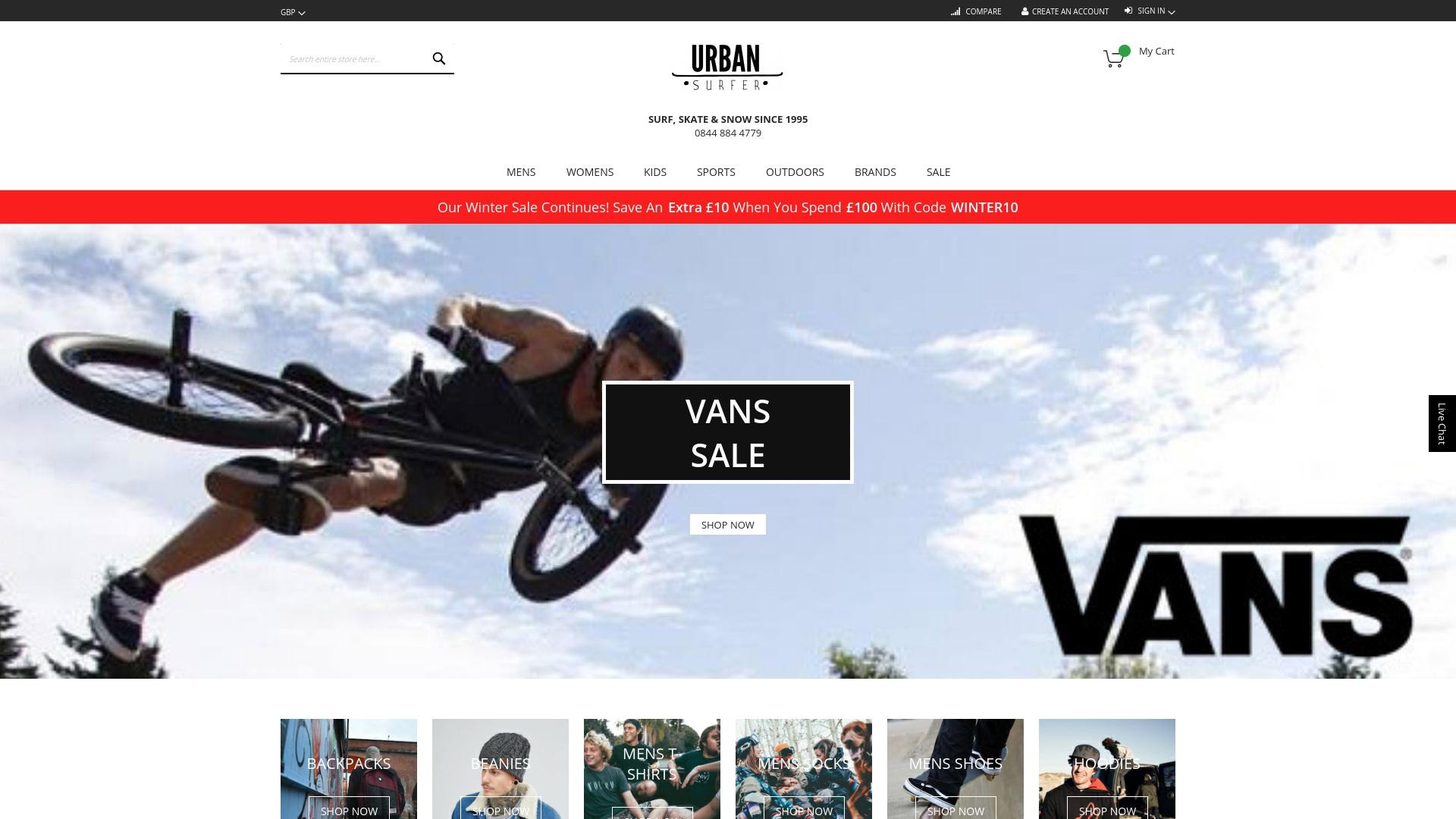 Gutschein für Urbansurfer: Rabatte für  Urbansurfer sichern