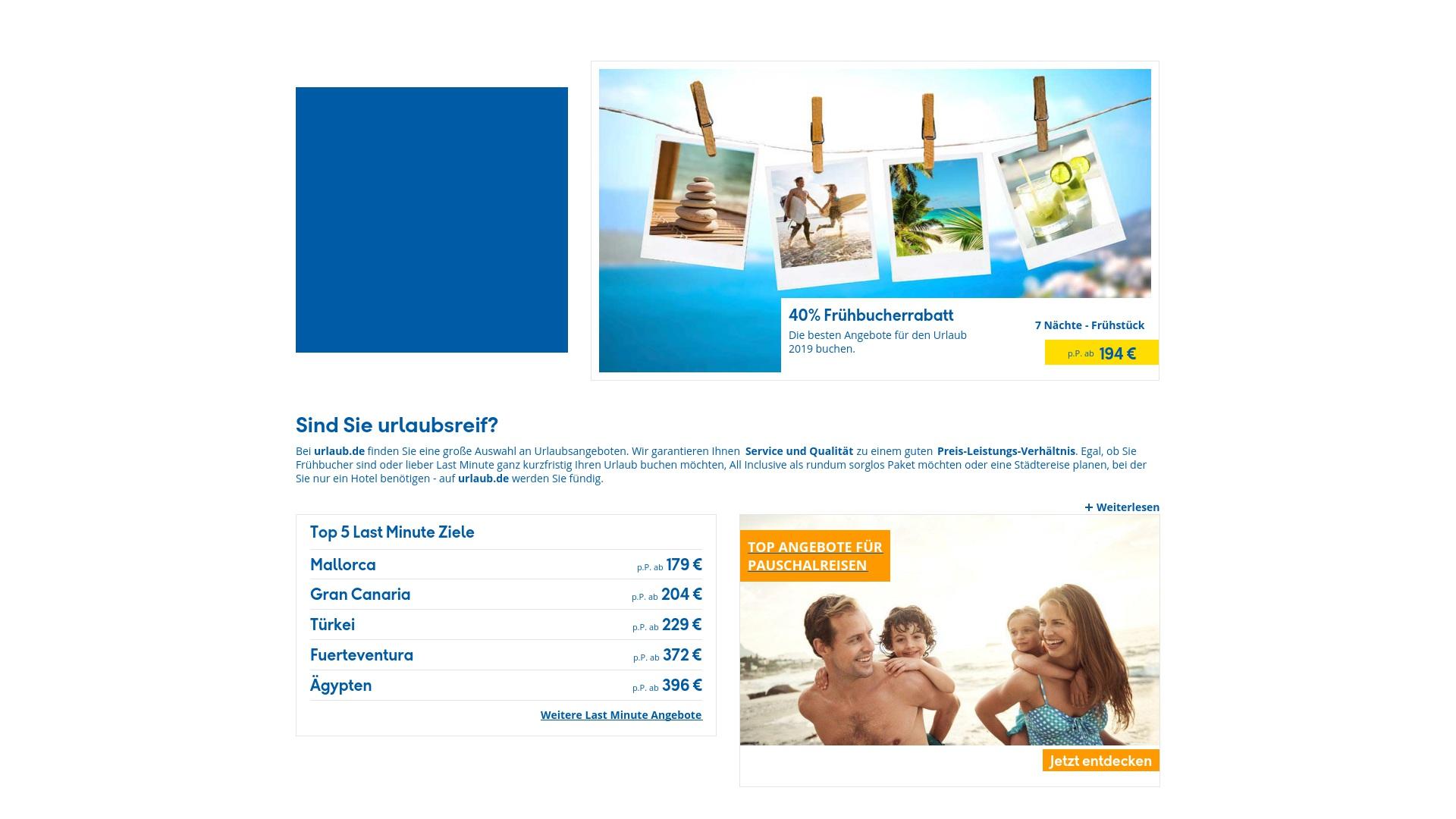 Gutschein für Urlaub: Rabatte für  Urlaub sichern