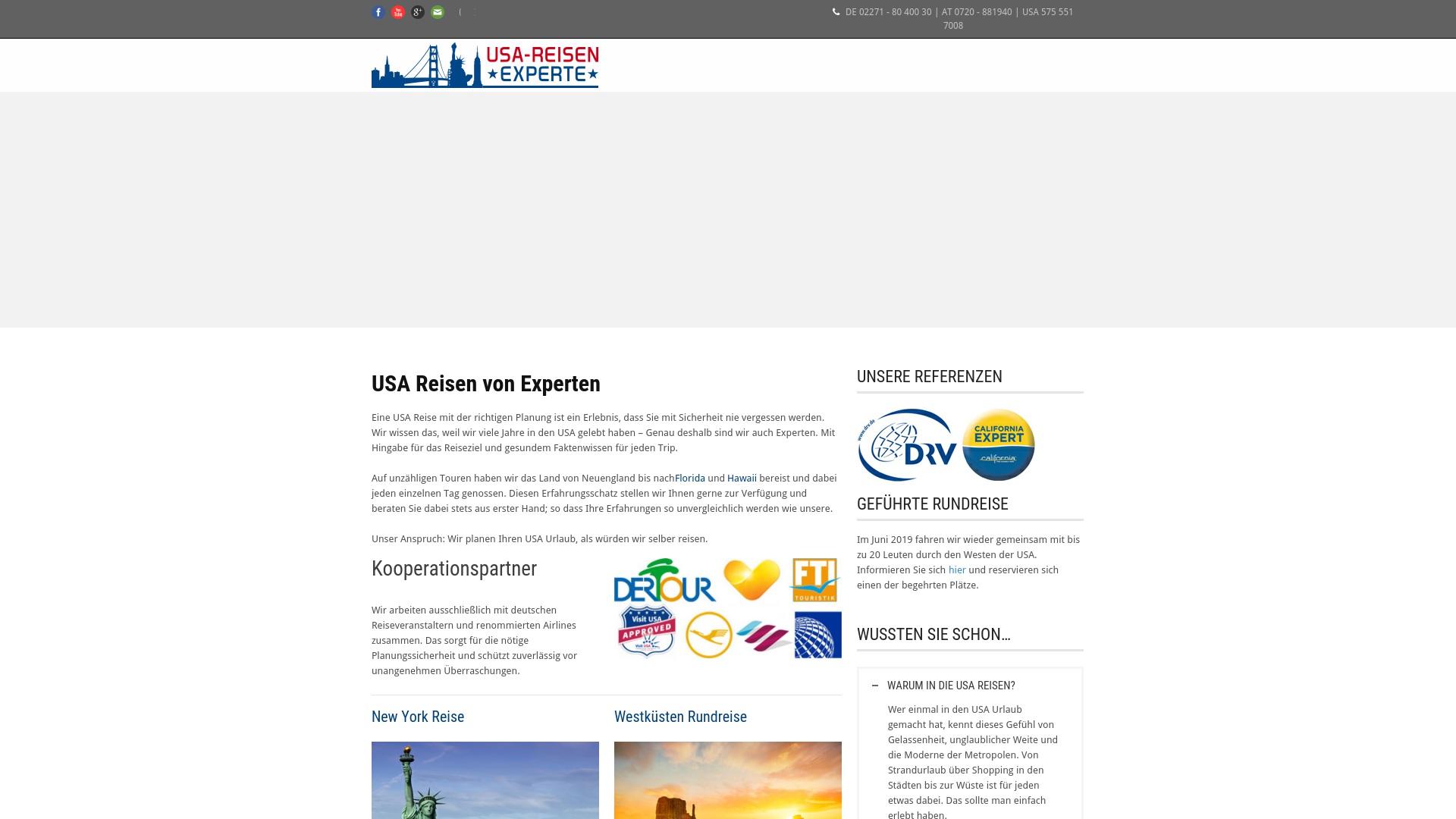Gutschein für Usa-reisen-experte: Rabatte für  Usa-reisen-experte sichern
