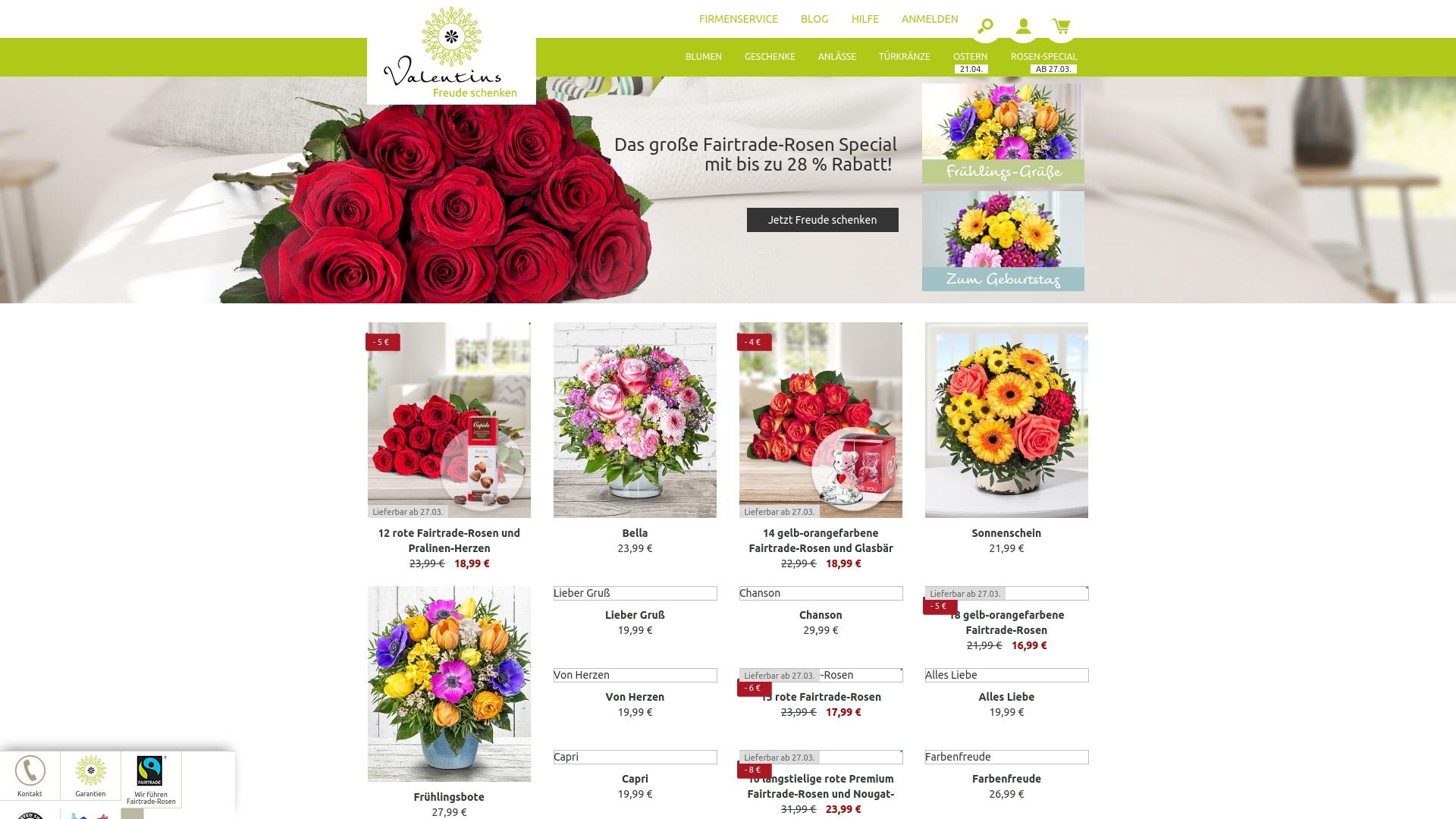 Gutschein für Valentins: Rabatte für  Valentins sichern
