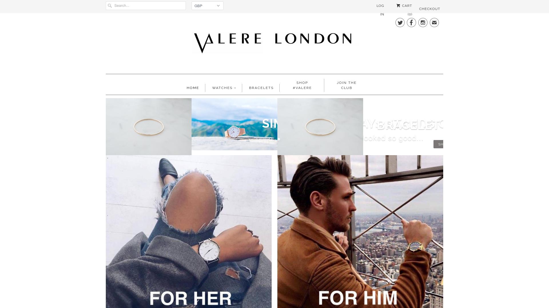 Gutschein für Valerelondon: Rabatte für  Valerelondon sichern