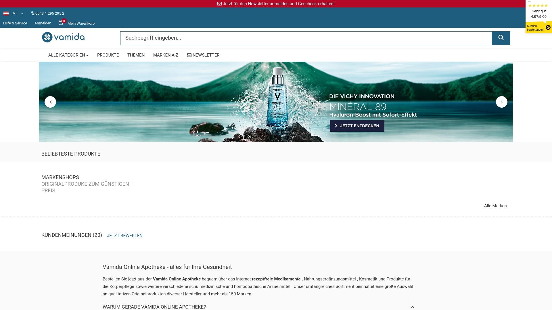 Gutschein für Vamida: Rabatte für  Vamida sichern