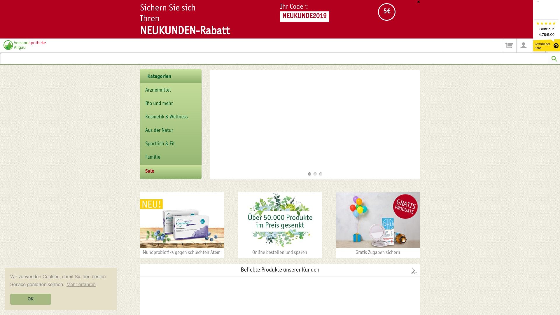 Gutschein für Versandapotheke-allgaeu: Rabatte für  Versandapotheke-allgaeu sichern