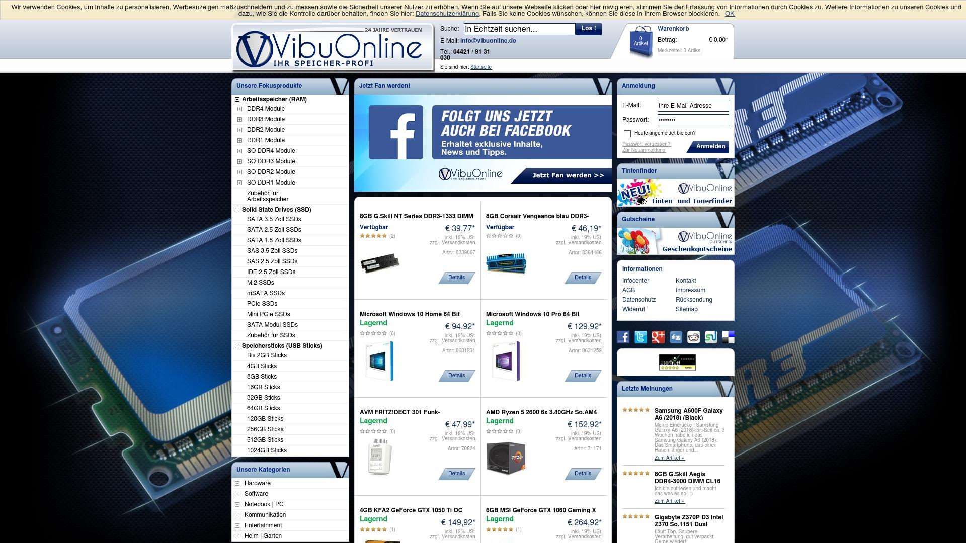 Gutschein für Vibuonline: Rabatte für  Vibuonline sichern