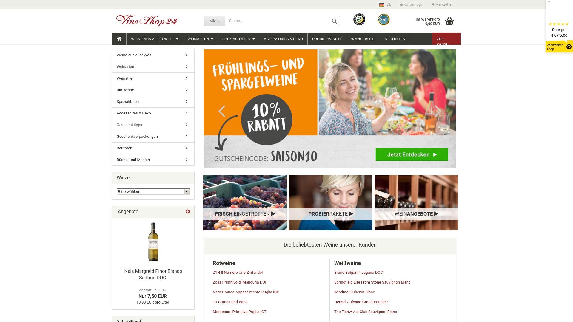 Gutschein für Vineshop24: Rabatte für  Vineshop24 sichern