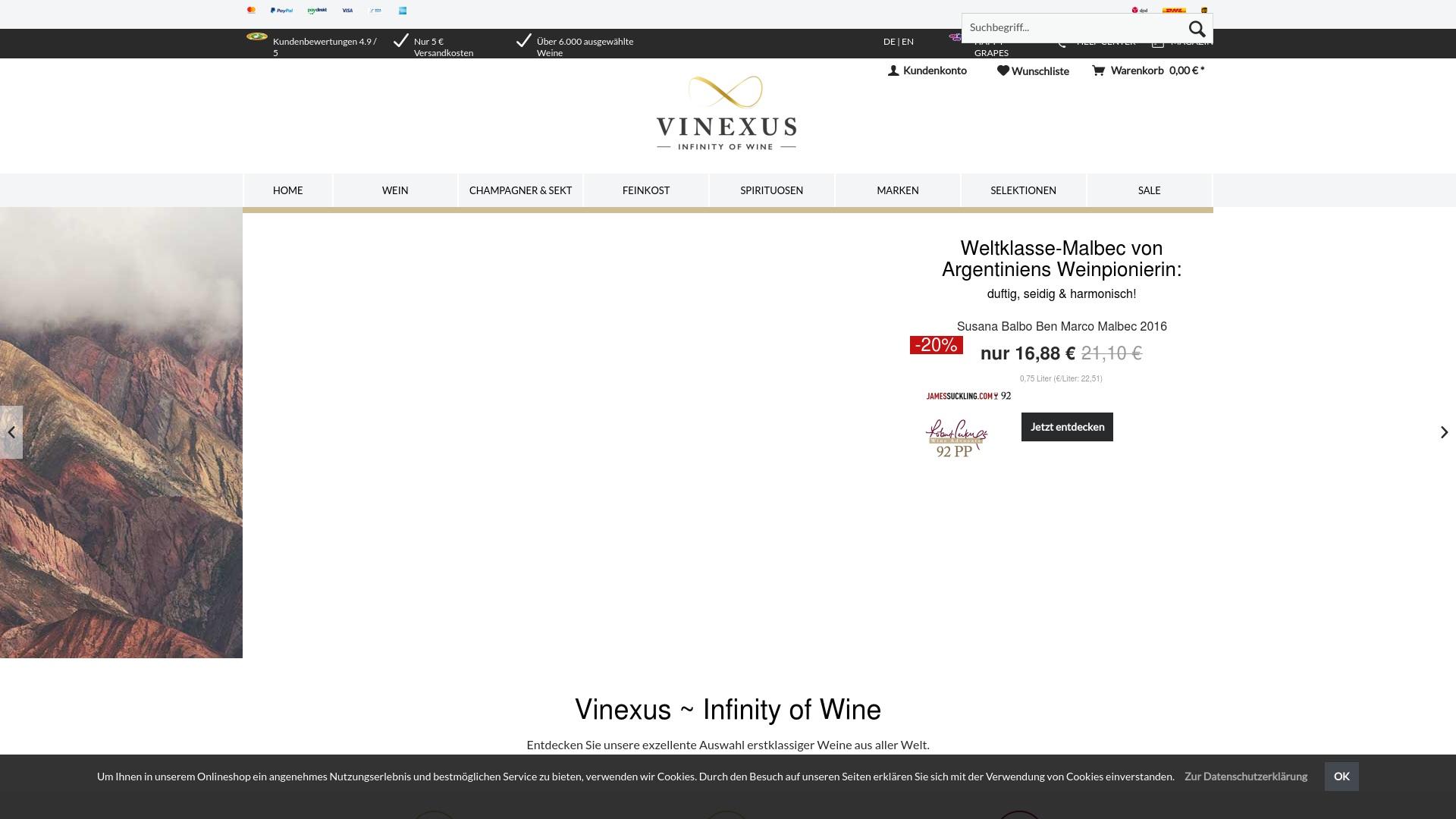 Gutschein für Vinexus: Rabatte für  Vinexus sichern