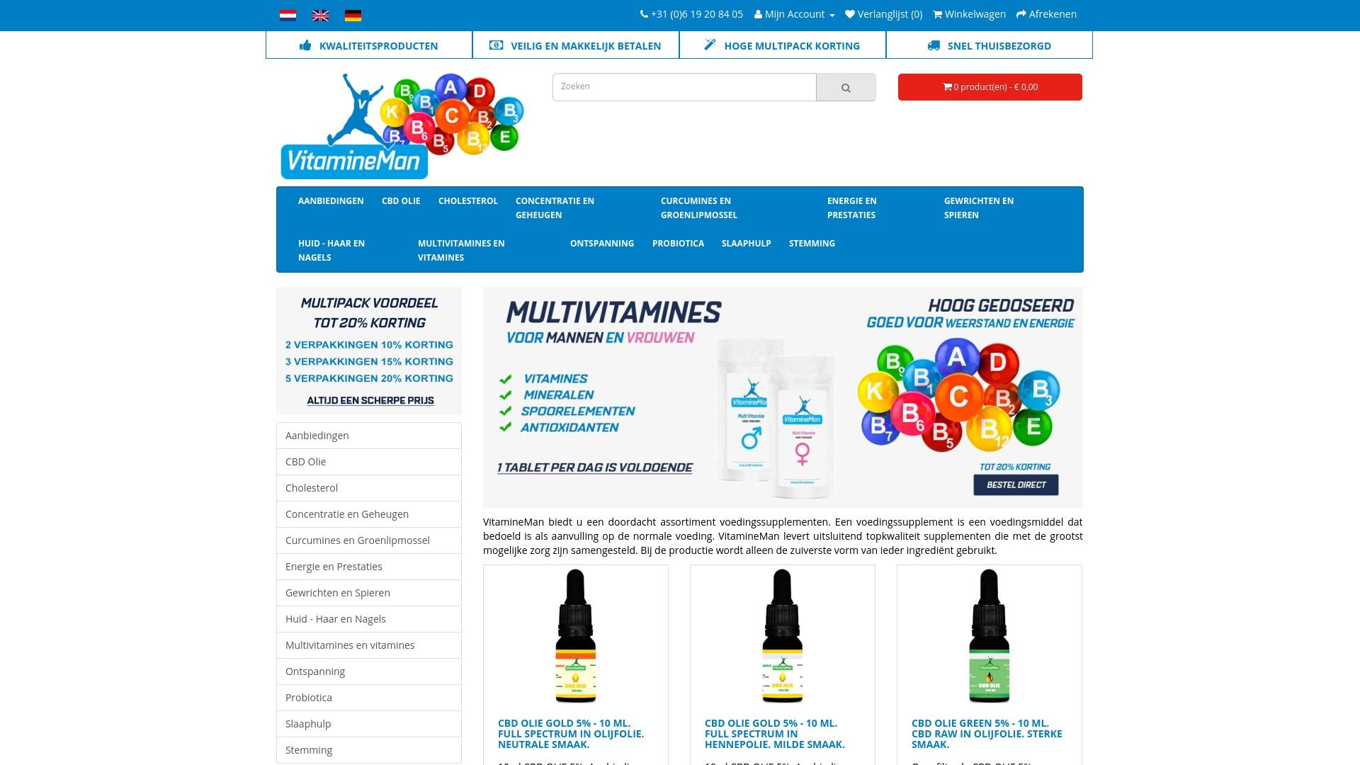 Gutschein für Vitamineman: Rabatte für  Vitamineman sichern