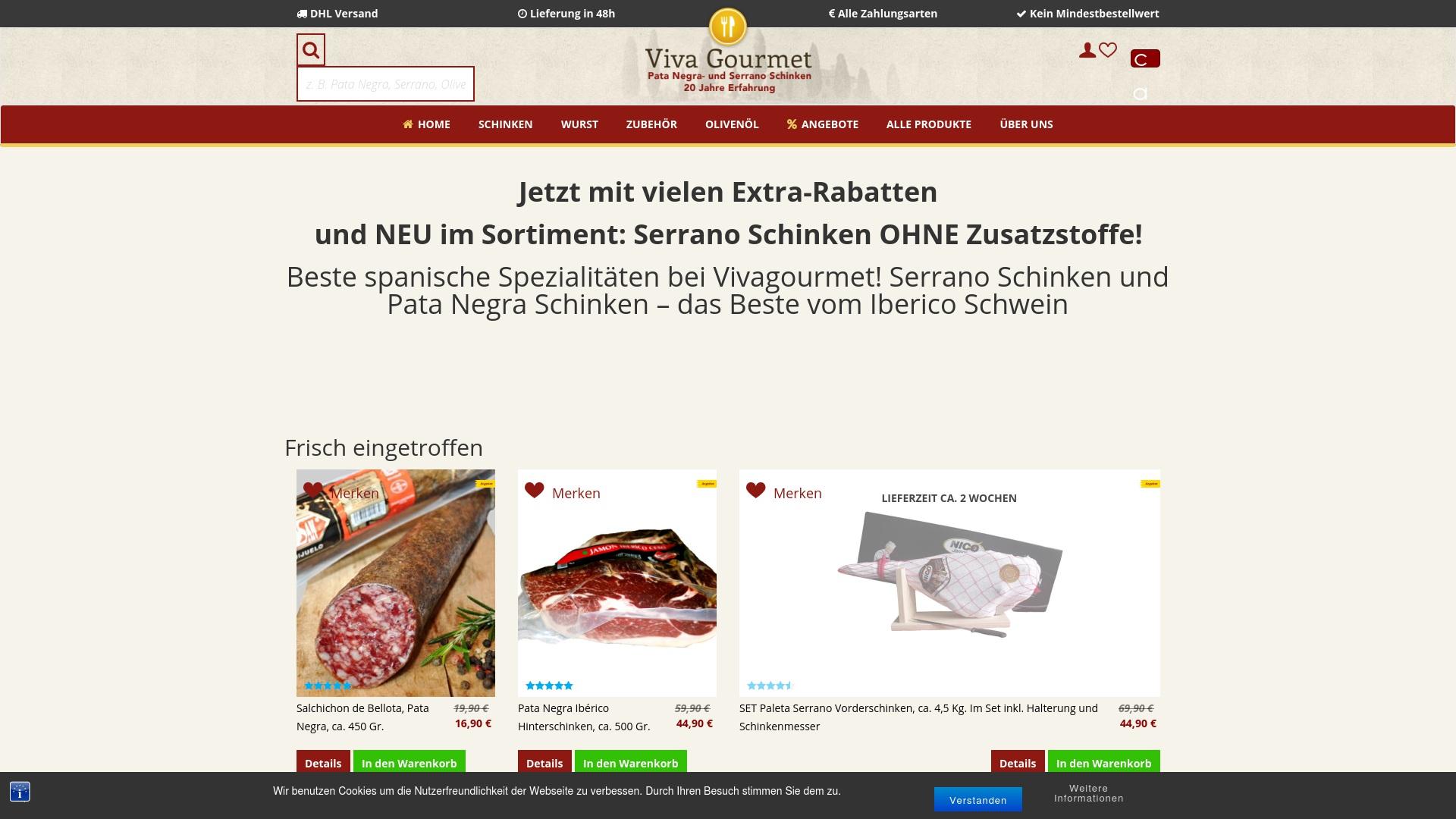 Gutschein für Vivagourmet: Rabatte für  Vivagourmet sichern