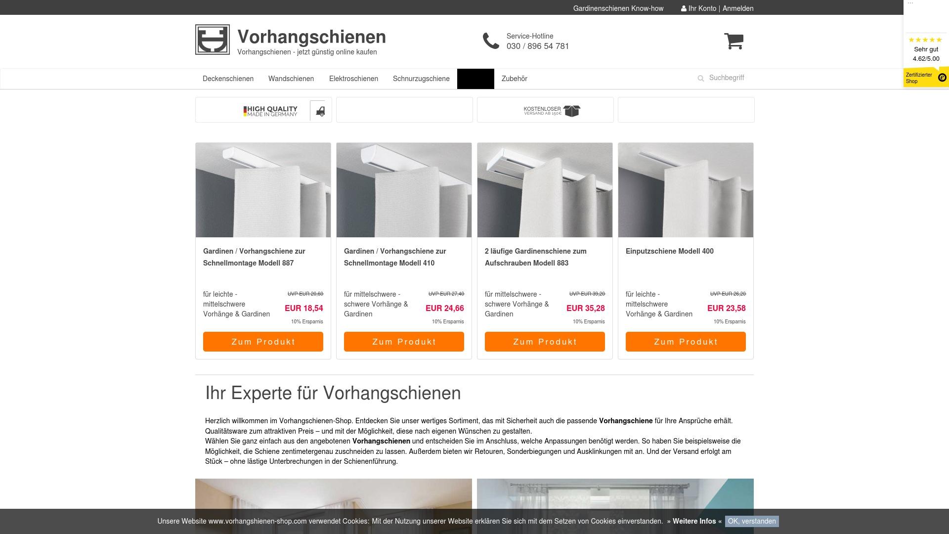 Gutschein für Vorhangschienen-shop: Rabatte für  Vorhangschienen-shop sichern