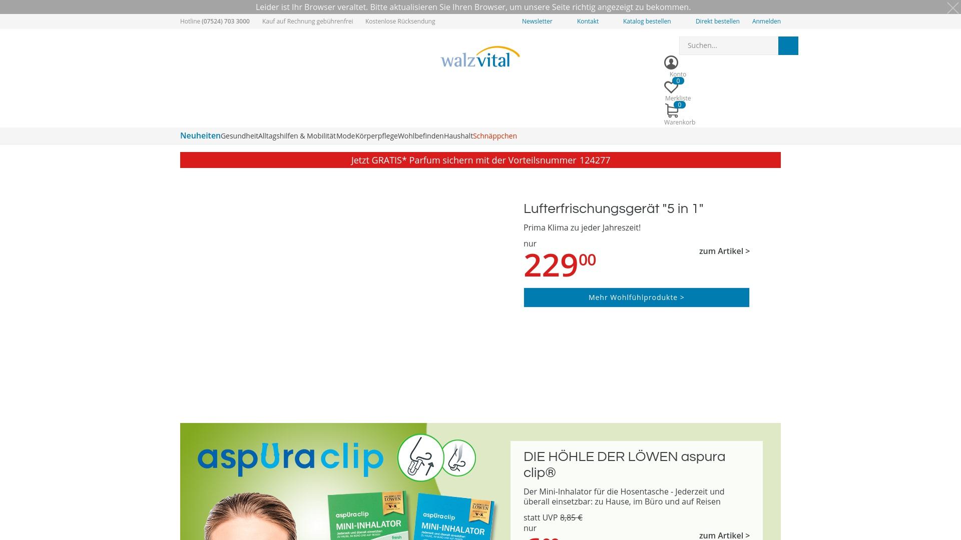 Gutschein für Walzvital: Rabatte für  Walzvital sichern