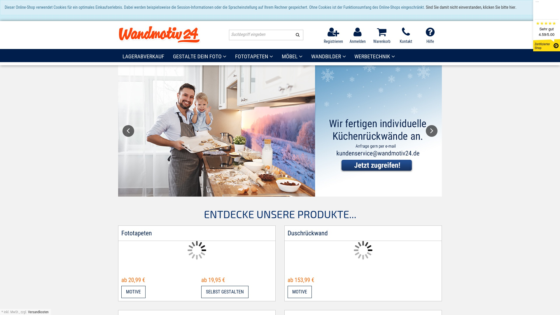 Gutschein für Wandmotiv24: Rabatte für  Wandmotiv24 sichern