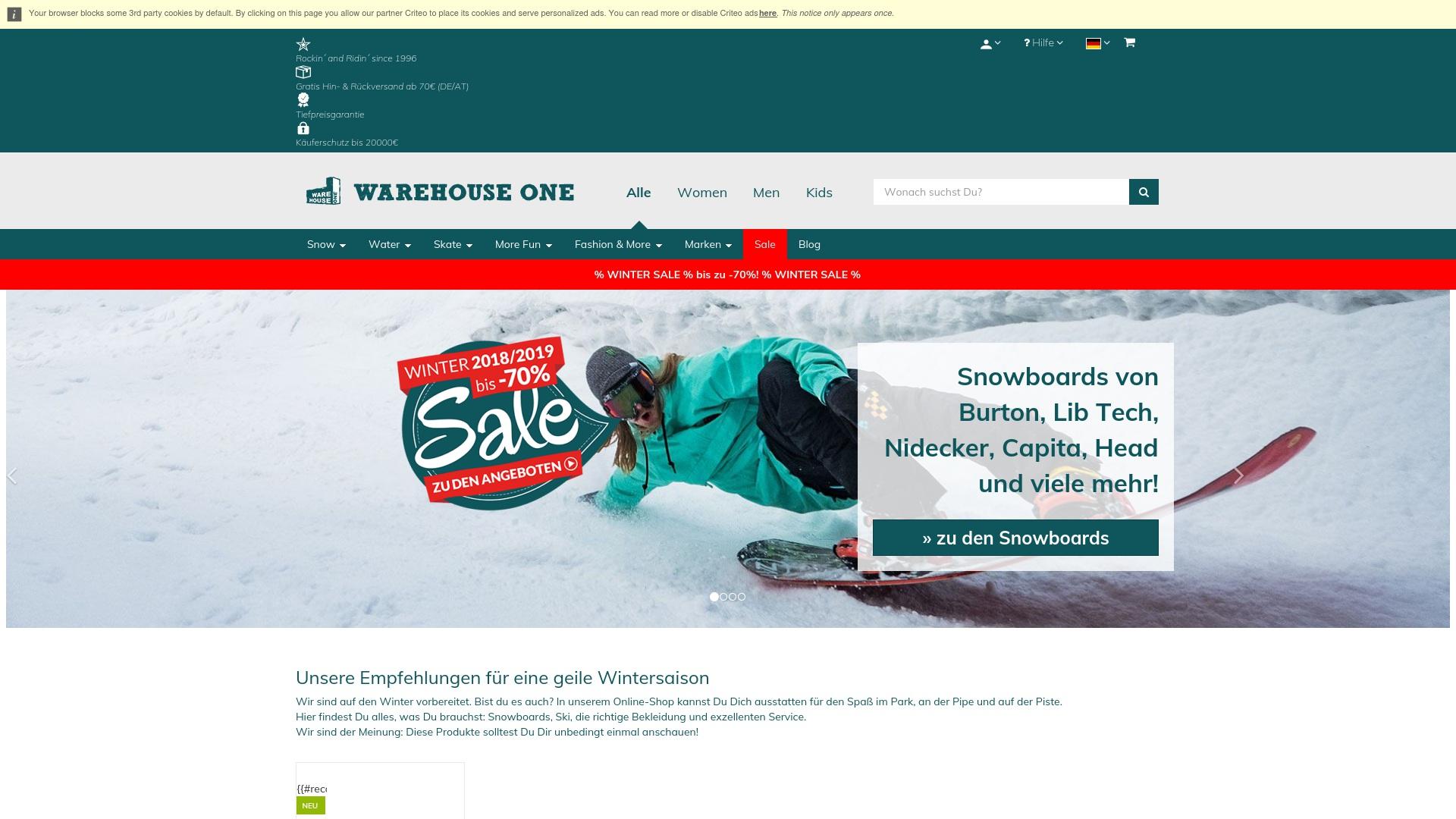 Gutschein für Warehouse-one: Rabatte für  Warehouse-one sichern