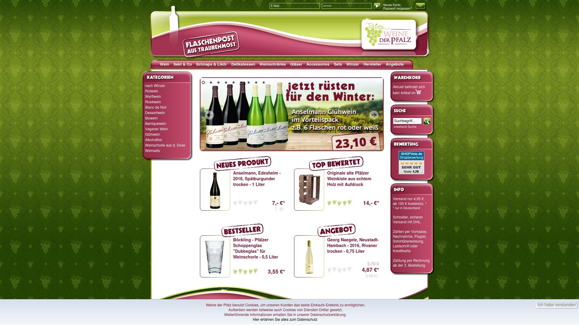 Gutschein für Weinederpfalz: Rabatte für  Weinederpfalz sichern