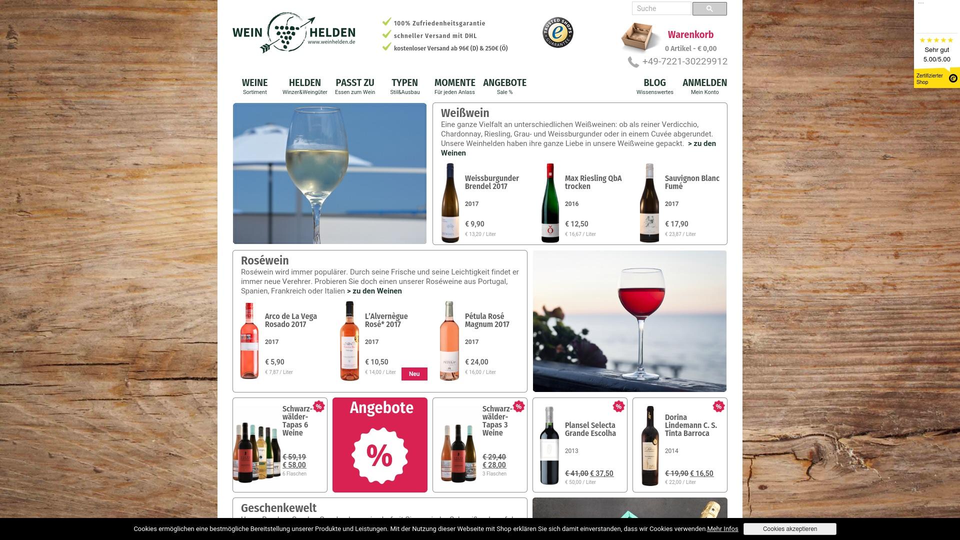 Gutschein für Weinhelden: Rabatte für  Weinhelden sichern