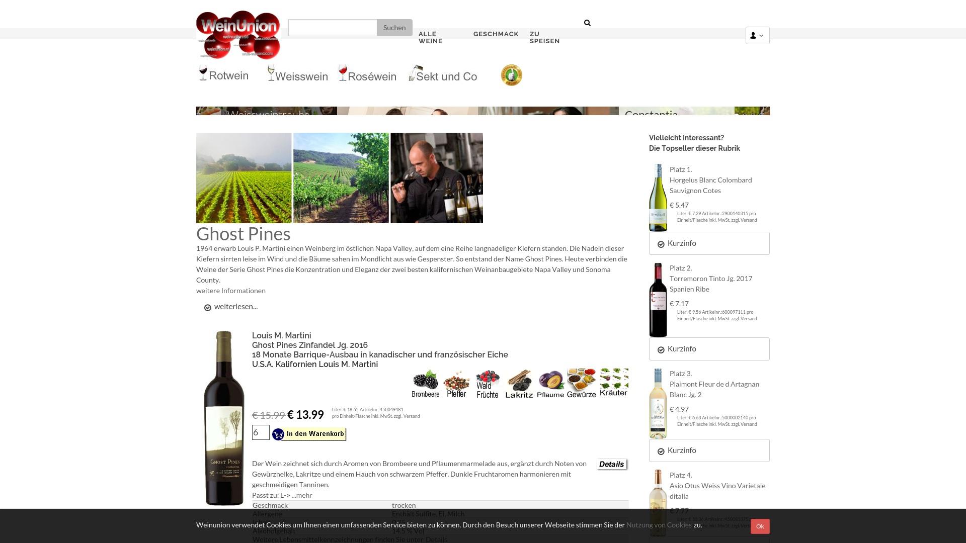 Gutschein für Weinunion: Rabatte für  Weinunion sichern