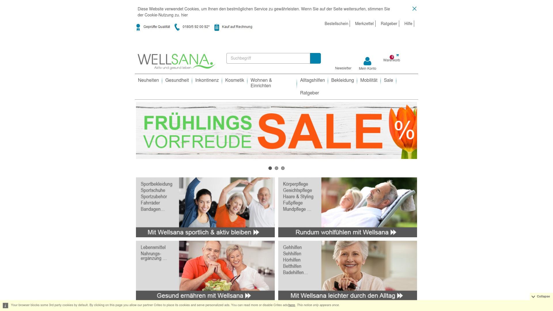 Gutschein für Wellsana: Rabatte für  Wellsana sichern