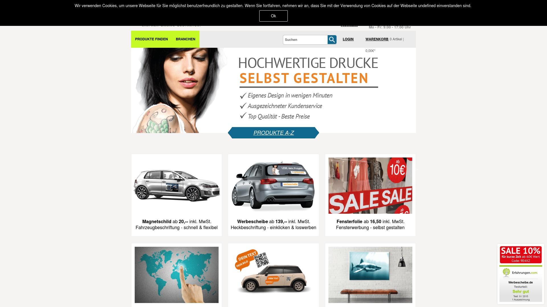 Gutschein für Werbescheibe: Rabatte für  Werbescheibe sichern